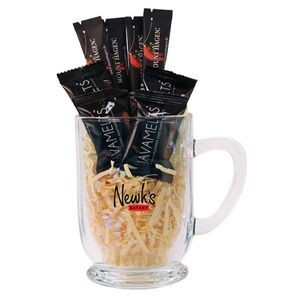 16 Oz. Bolero Clear Glass Mug with Java Melts & Coffee