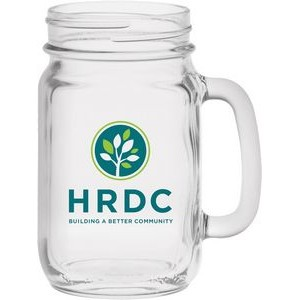 16 Oz. Handled Jar Drinking Glass